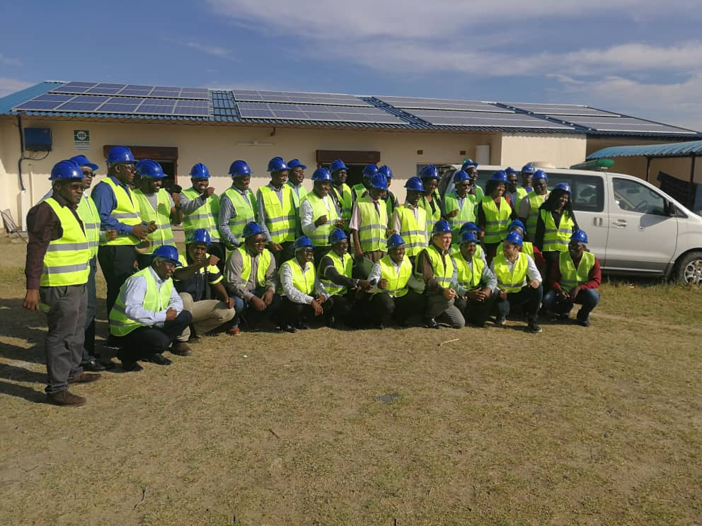 Solar Industry Stakeholders visit our installation at Chongwe Hospital