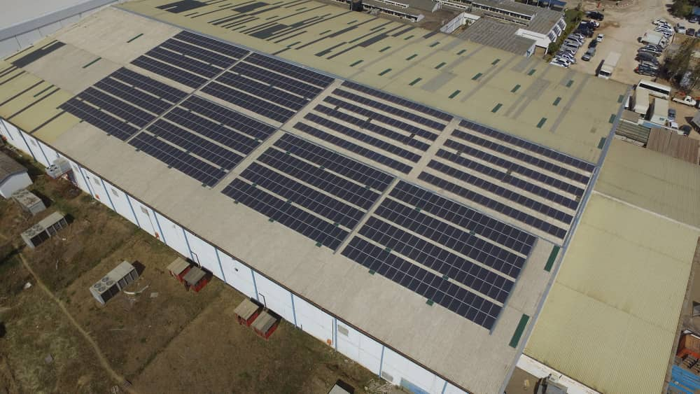 240KW solar on medical stores warehouse
