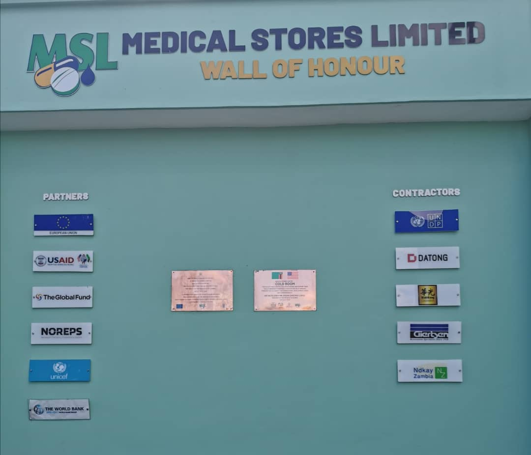 Medical Stores Limited Wall of Honor