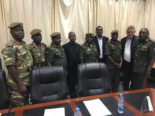 Ndkay Zambia MD, After making a presentation of our company to Zambia Army 2018 Decembe